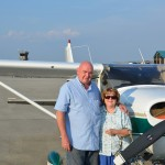 Mom and Dad next to N8487S